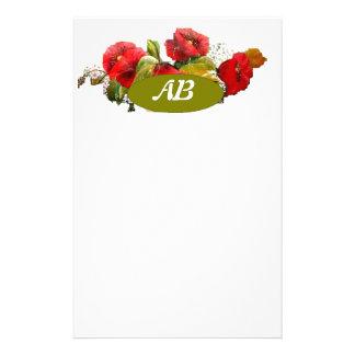 monograme stationnaire motifs pour papier à lettre
