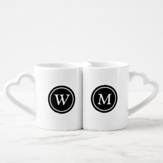 Monogramed Best Half Mug Set