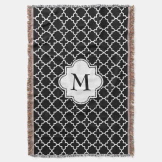 monogramed chevron, throw