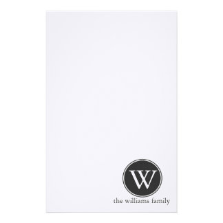 Monogramed Circle Stationery