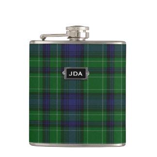 Monogramed Clan Abercrombie Tartan Plaid Flask