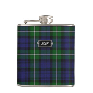 Monogramed Clan Forbes Tartan Plaid Flask