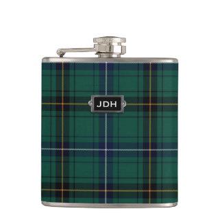 Monogramed Clan Henderson Tartan Plaid Flask