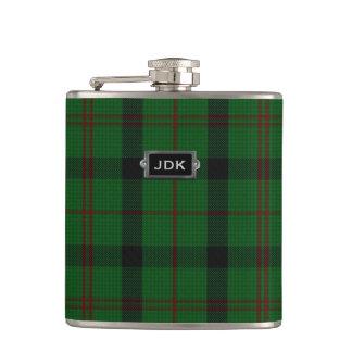 Monogramed Clan Kincaid Tartan Plaid Flask