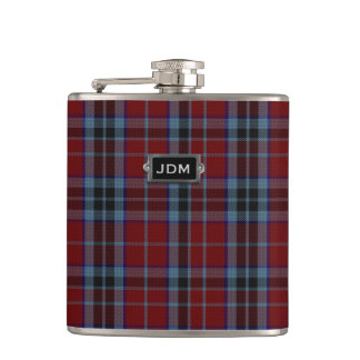 Monogramed Clan MacTavish Tartan Plaid Flask