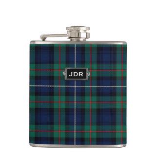 Monogramed Clan Robertson Tartan Plaid Flask