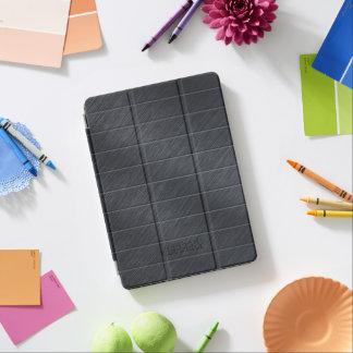 Monogramed Dark Gray Carbon Fiber Metallic Texture iPad Pro Cover