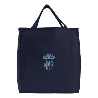 Monogramed Embroidered Bag Purse