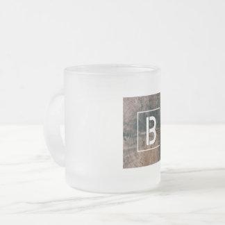 """Monogramed Letter """"B"""" Frosted Mug"""