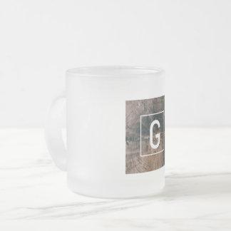 """Monogramed Letter """"G"""" Frosted Mug"""