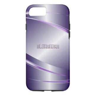 Monogramed Metallic Purple Tint iPhone 7 Case
