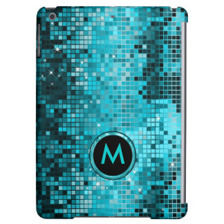 Monogramed Metallic Turquoise Sequence Glitter Case For iPad Air