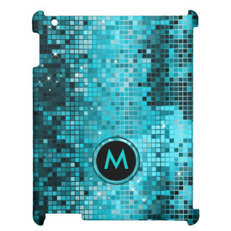 Monogramed Metallic Turquoise Sequence Glitter Case For The iPad