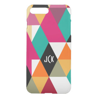 Monogramed Modern Colorful Geometric Pattern 3 iPhone 7 Plus Case