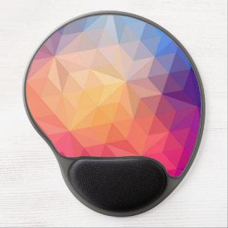 Monogramed Modern Colorful Geometric Pattern 4 Gel Mouse Pad