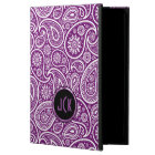 Monogramed Purple And White Vintage Paisley Powis iPad Air 2 Case