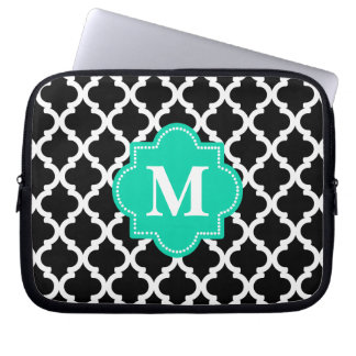 monogramed quatrefoil laptop sleeve