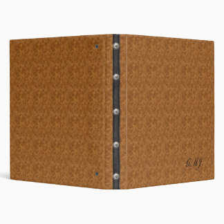 Monogramed - (simulated) Leather Notebook Binder