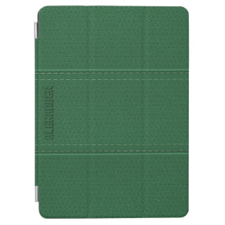Monogramed Vintage Dark Green Faux Leather iPad Air Cover