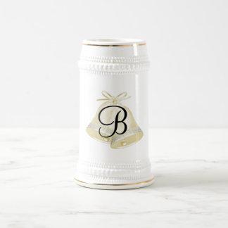 Monogramme B de Bells de mariage Chope À Bière
