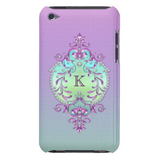 Monogramme chic et fleuri de diamants étui barely there iPod