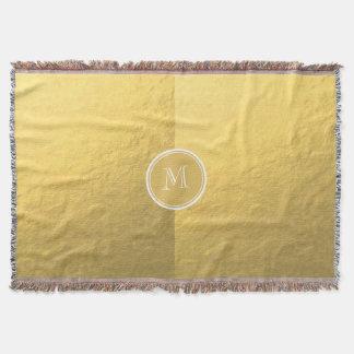 Monogramme d'arrière - plan de feuille d'or de couvre pied de lit