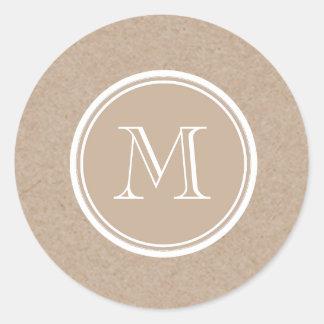 Monogramme d'arrière - plan de papier d'emballage adhésifs ronds