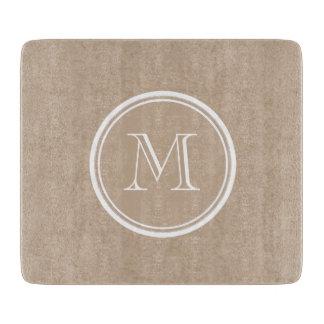 Monogramme d'arrière - plan de papier d'emballage planche à trancher
