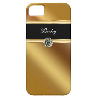 Monogramme de cas de l'iPhone 5 de bijou