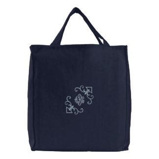 Monogramme de Fleur De Lis fourre-tout Sacs Brodés