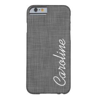 Monogramme de toile de coutume de texture de Faux Coque Barely There iPhone 6
