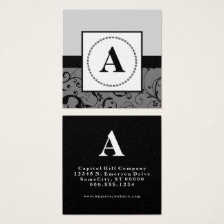 monogramme élégant carte de visite carré