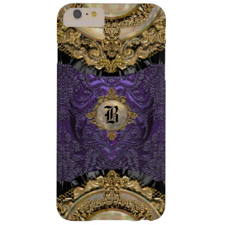 Monogramme élégant de Chalchadoriz Royale mince Coque Barely There iPhone 6 Plus