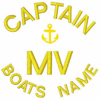 Monogramme et ancre personnalisés de capitaine de