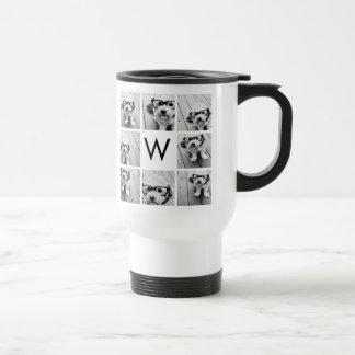 Monogramme fait sur commande de collage de 8 mug de voyage en acier inoxydable