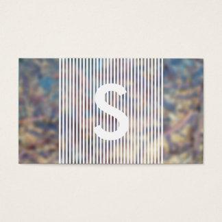 monogramme harassé cartes de visite
