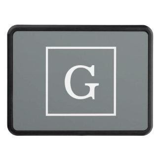 Monogramme initial encadré de blanc gris de couvertures remorque d'attelage