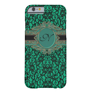 Monogramme irlandais vert de coutume de dentelle d coque barely there iPhone 6