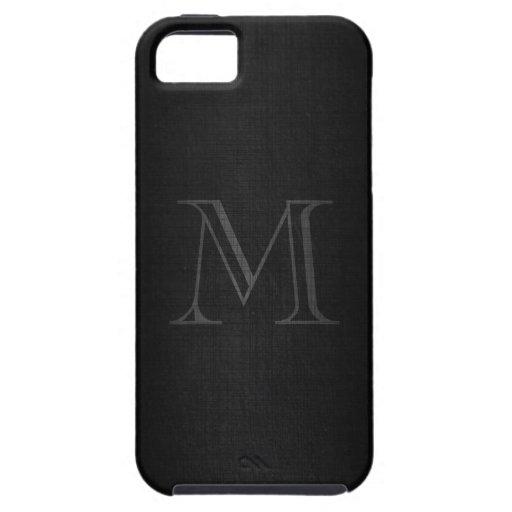 Monogramme pour les hommes avec le regard de toile coques iPhone 5 Case-Mate