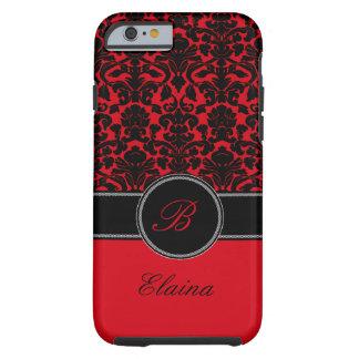 Monogramme rouge, caisse noire et blanche de l'iPh Coque Tough iPhone 6