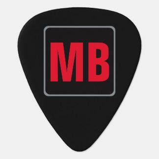 monogramme rouge noir pour le guitar_player onglet de guitare