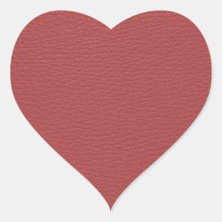 Monogramme simili cuir de Faux rouge simple Autocollants En Cœur