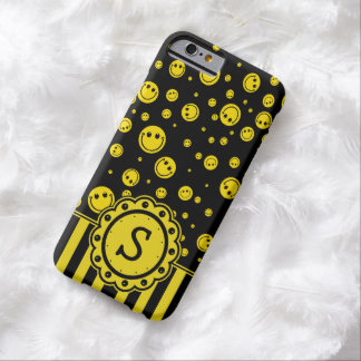 Monogramme souriant de PolkaDot Coque iPhone 6 Barely There