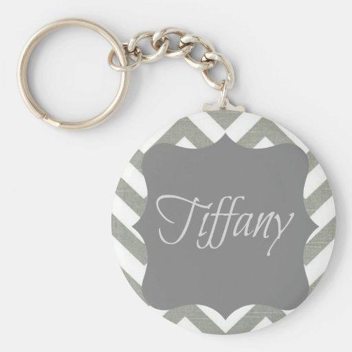 Monogramme Tiffany Chevron Porte-clefs