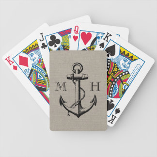 Monogramme vintage de très bon goût de mariage jeu de poker