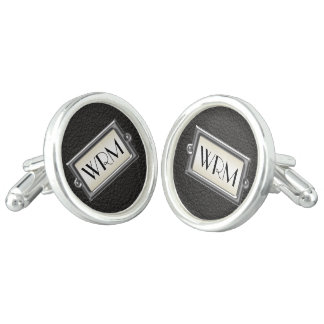 Monogrammed 3-Letter Executive Men's Personalized Cufflinks