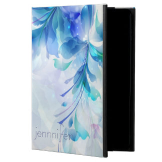 Monogrammed Abstract Floral Blue And White Powis iPad Air 2 Case