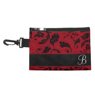 Monogrammed Accessories in Red and Black for Her Accessory Bag