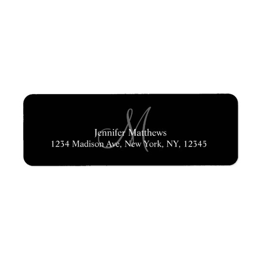 Monogrammed Address Labels for Weddings