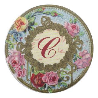 Monogrammed Antique French Rose Perfume Eraser